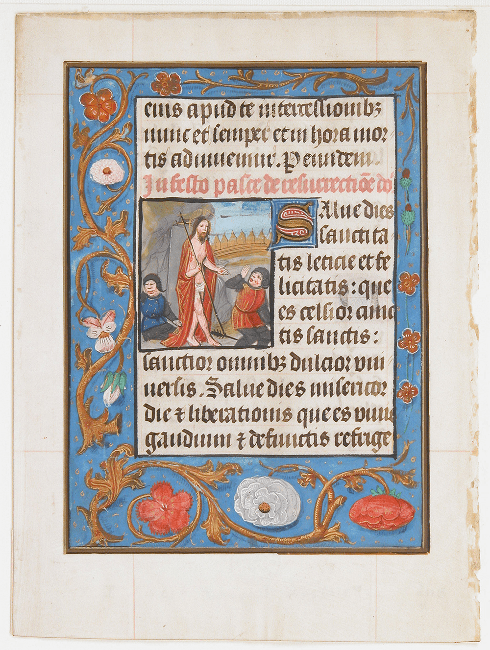 Manuscript Leaf with Resurrection