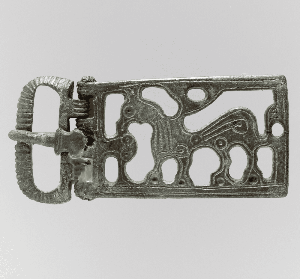 Belt Buckle with a Griffin, ca. 6th century, Frankish