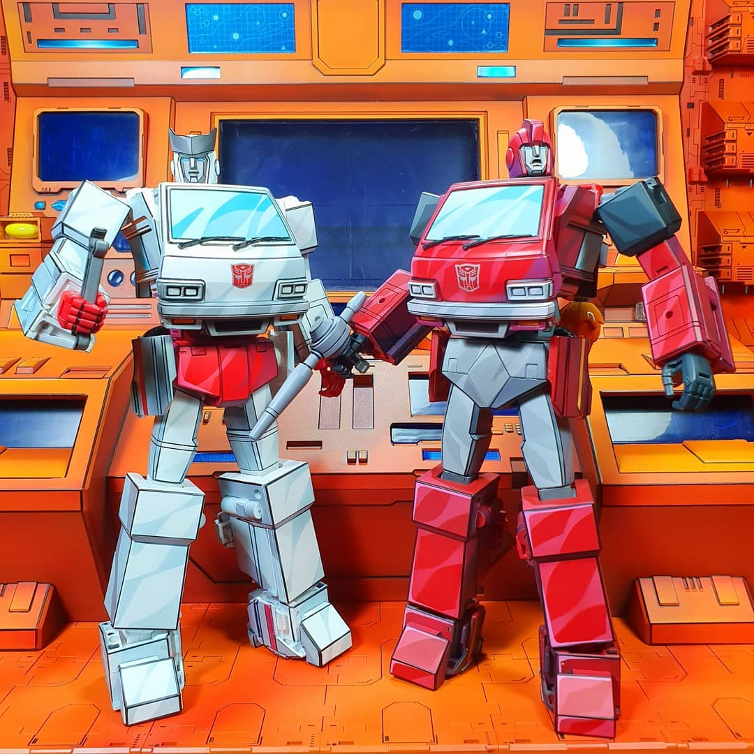 Cel shaded Transformers toys