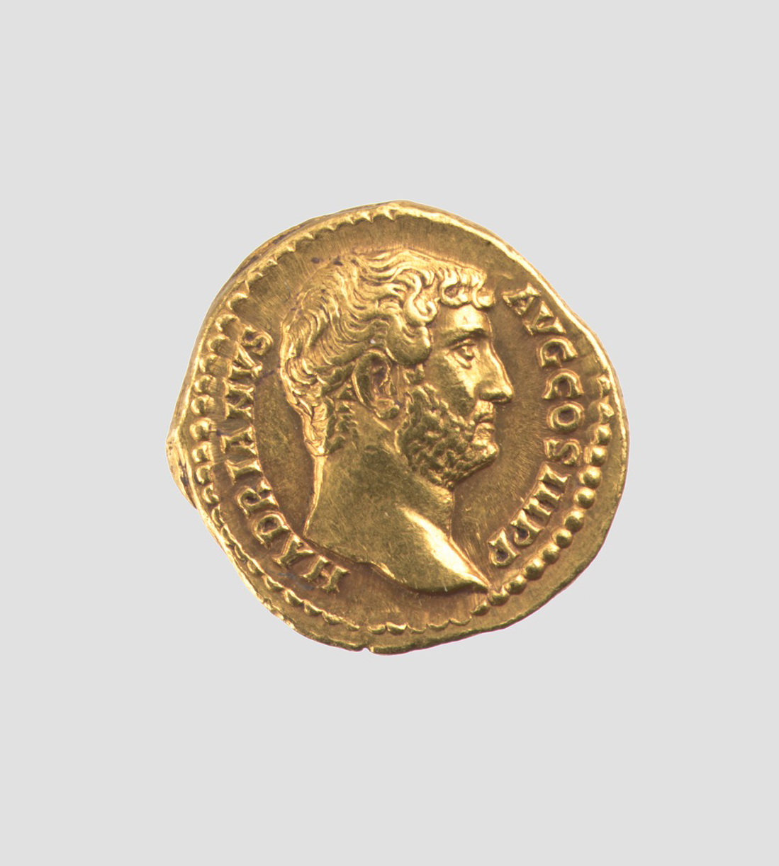 Gold aureus of Hadrian