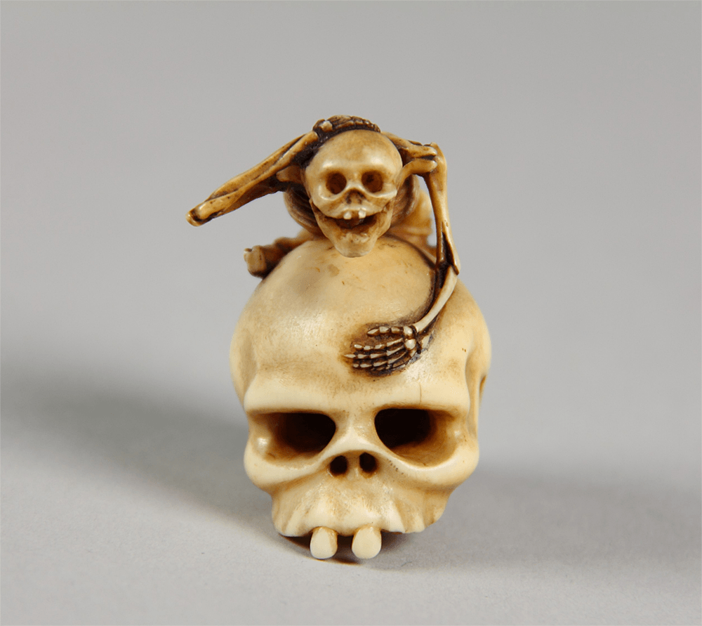 Skeleton Astride a Skull,late 18th–early 19th century